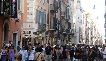 Via del Corso, em Roma
